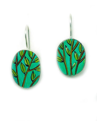 Aqua Branches Earrings