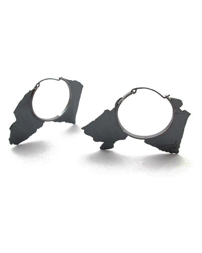 Torn Pieces Hoop Earrings