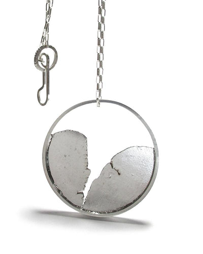 Torn Inside Circle Pendant