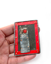 Load image into Gallery viewer, Red Border Brooch
