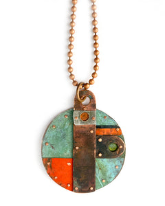 Green and Orange Necklace