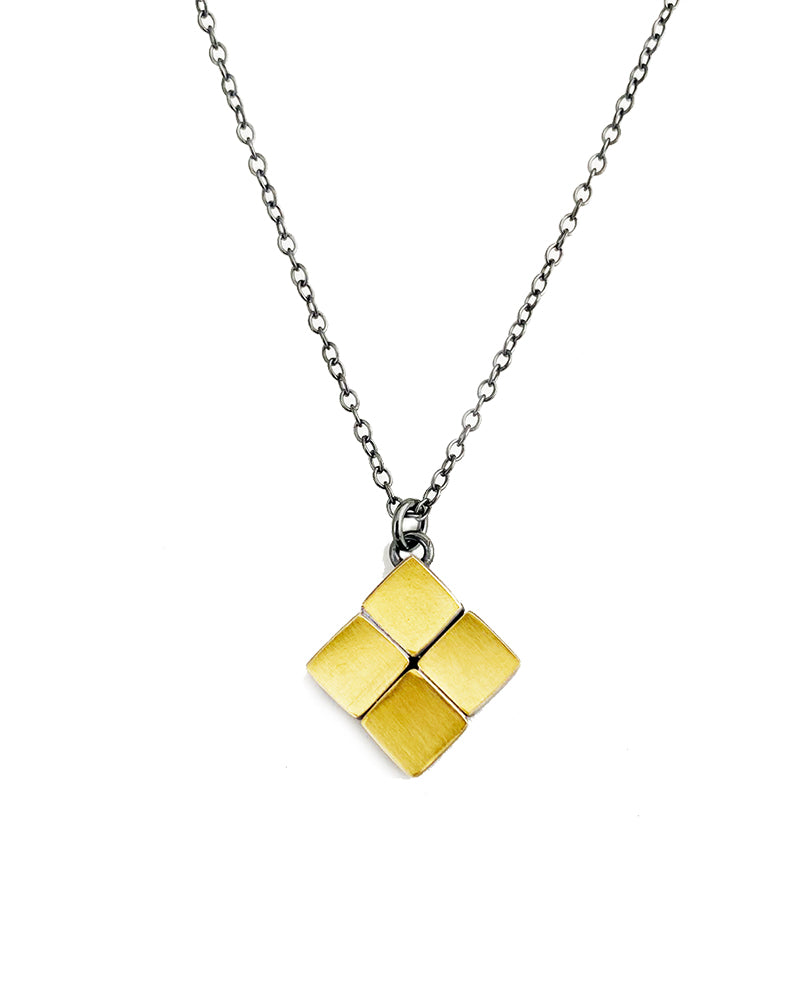 4 Square Gold Necklace