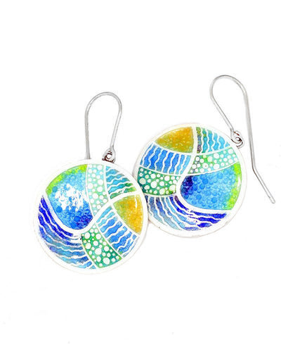 Blue Abstract Earrings
