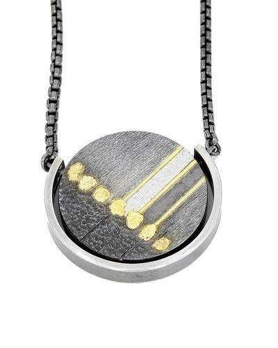 Round Abstract Pendant
