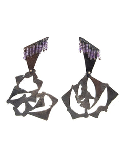 Amethyst and Silver Earrings