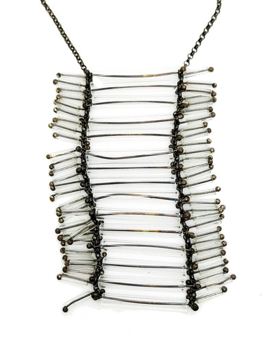 Glass Silver Necklace