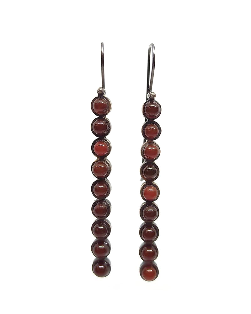 Carnelian Line Earrings