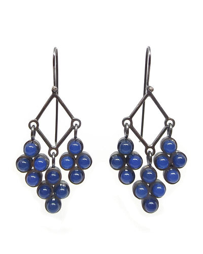 Blue Onyx Chandelier Earrings