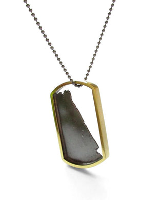 Torn Tag-Silver and Brass