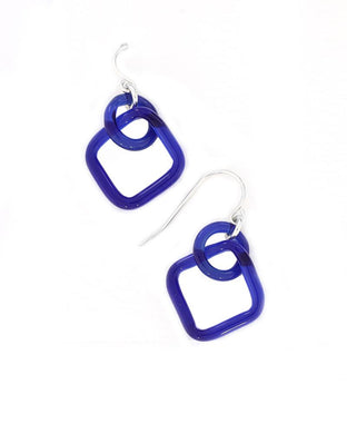 X Small Blue Earrings