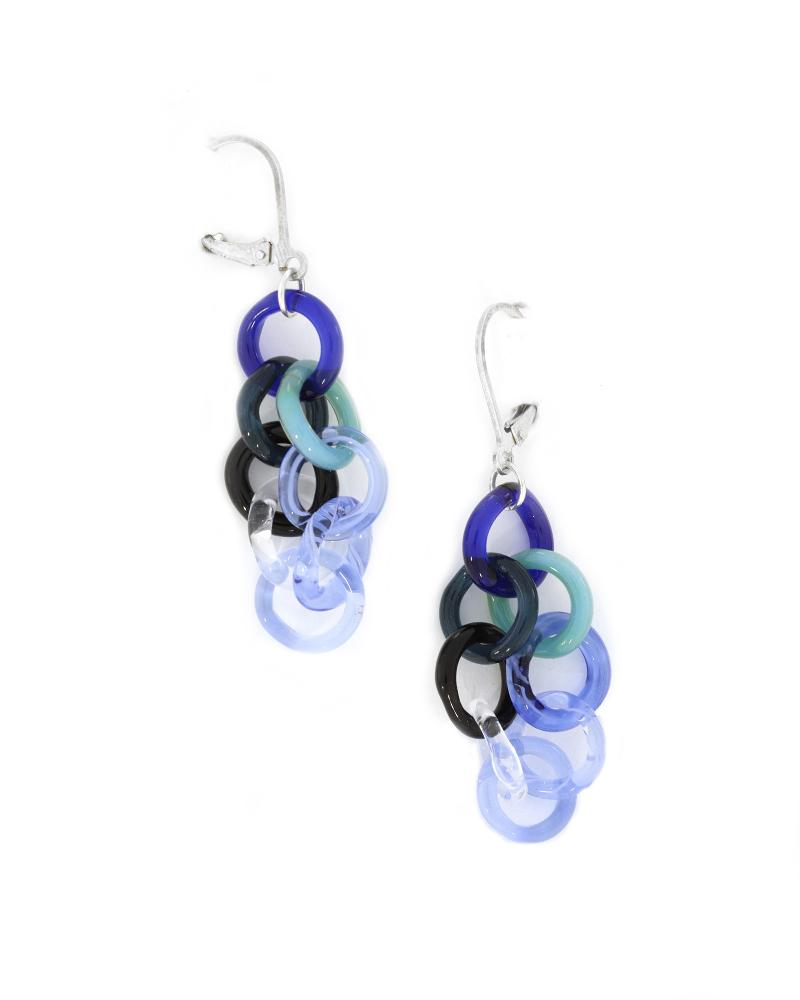 Small Blue Mixed Earrings