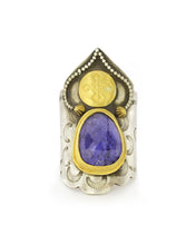 Load image into Gallery viewer, Tanzanite Saddle Ring