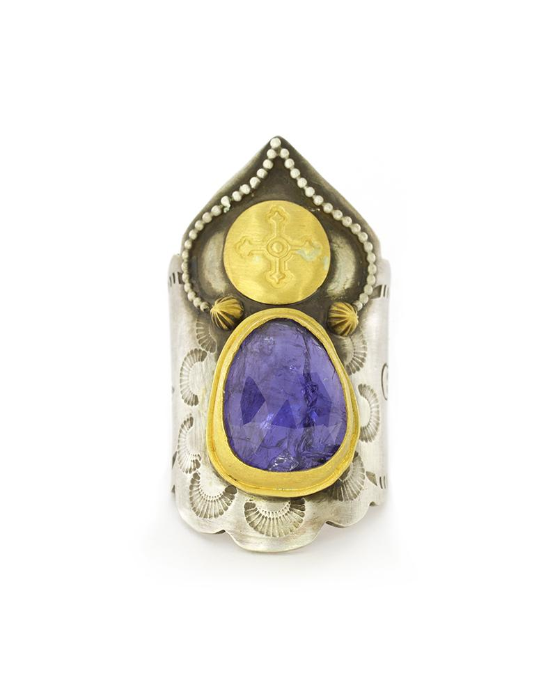Tanzanite Saddle Ring