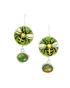 Pollinators with Ammolite Earrings