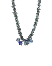 Load image into Gallery viewer, Blue Glass Necklace