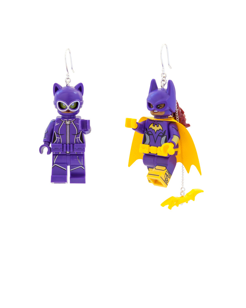 Cat Woman & Bat Girl Earrings