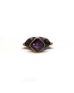 Fine Emerald-cut Amethyst Ring