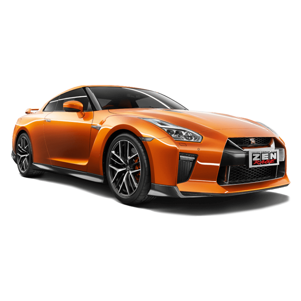 Nissan GTR 2007-2018 ZEN-Rage Valvetronic exhaust system 120mm Tips Titanium 90/90/102mm pipe size