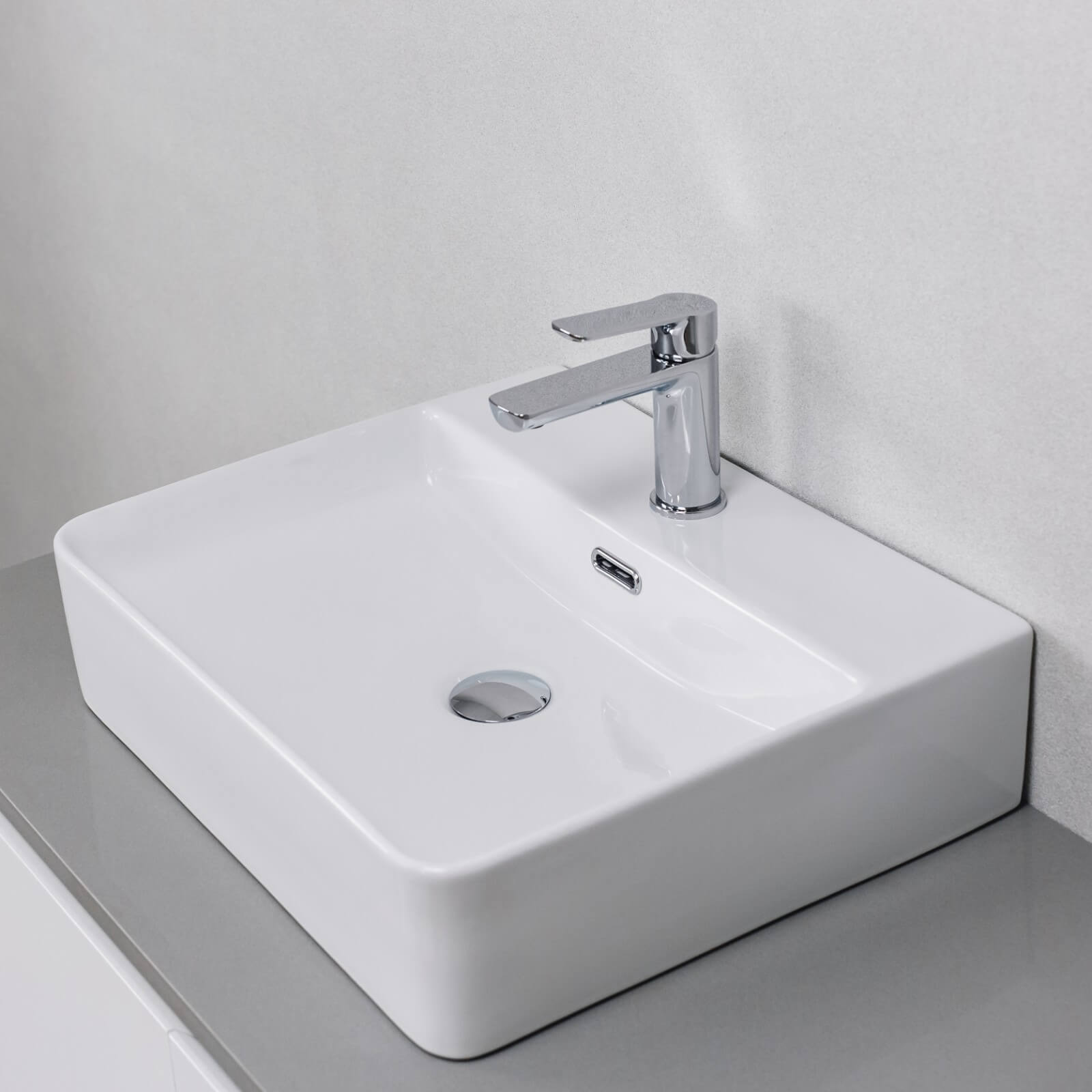 Alpha Above Counter Basin Gloss White