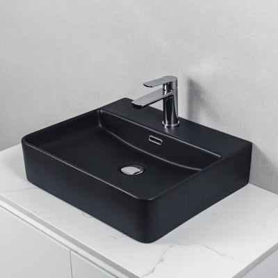 Alpha Above Counter Basin Matte Black