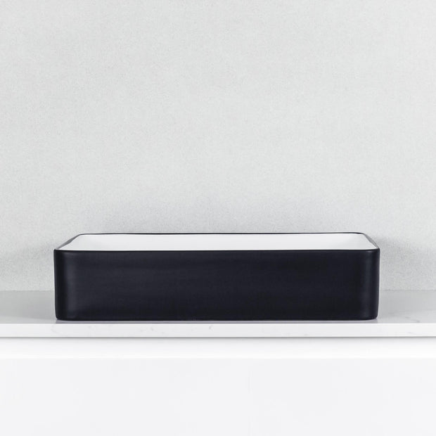 Tranquil Above Counter Basin Matte White and Black