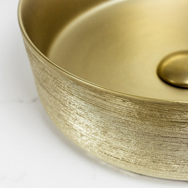 Aura Above Counter Basin Matte Gold Brushed