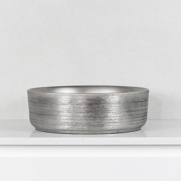 Aura Above Counter Basin Matte Silver Brushed