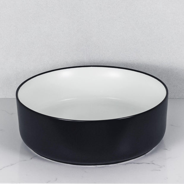 Aura Above Counter Basin Matte White and Black