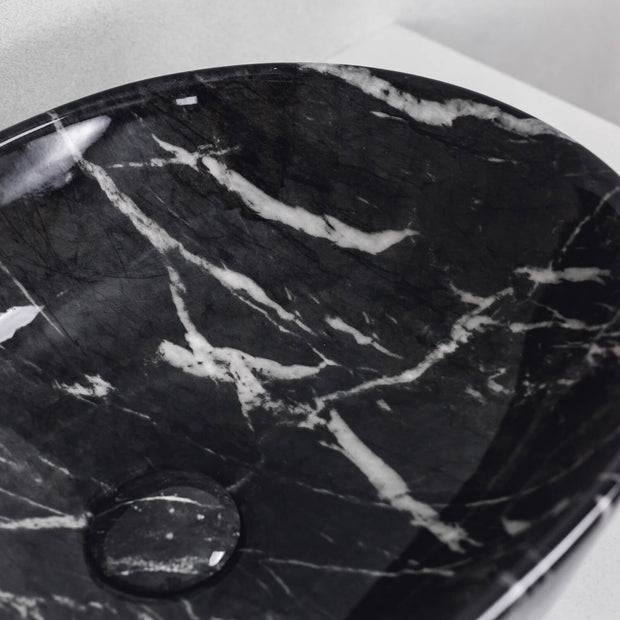 Santorini Above Counter Basin Black Swan Marble