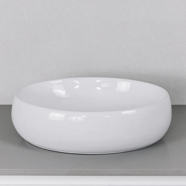 Ellipse Above Counter Basin Gloss White
