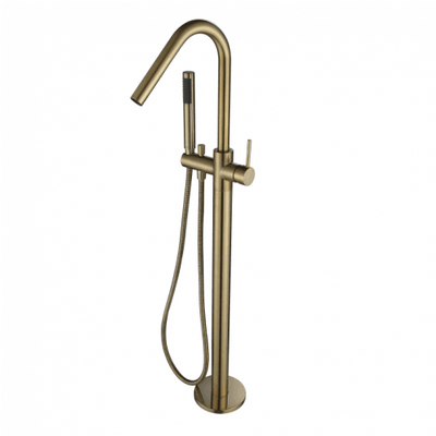 Free Standing Bath Mixer With Hand Shower