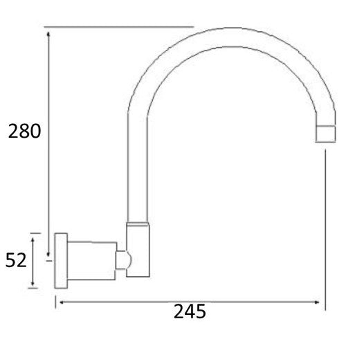 WATERPOINT Wall Spa Spout 245mm
