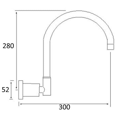 WATERPOINT Wall Spa Spout 300mm