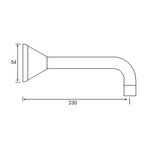 WATERFALL Bath Spout 230mm