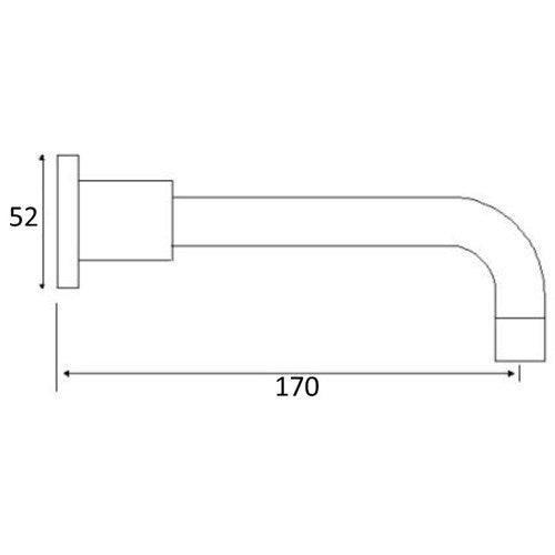 WATERPOINT Bath Spout 170mm
