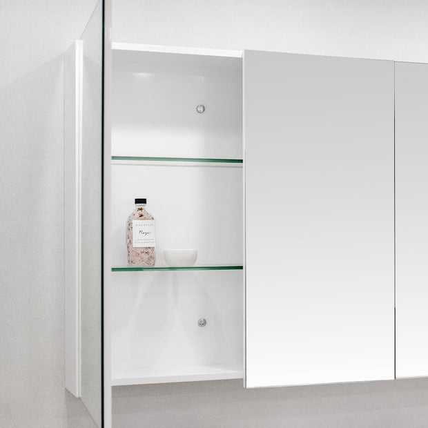 Mirror Shaving Cabinet Pencil Edge 900mm