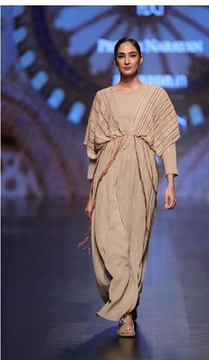 Long dress with front detailing by Priyam Narayan