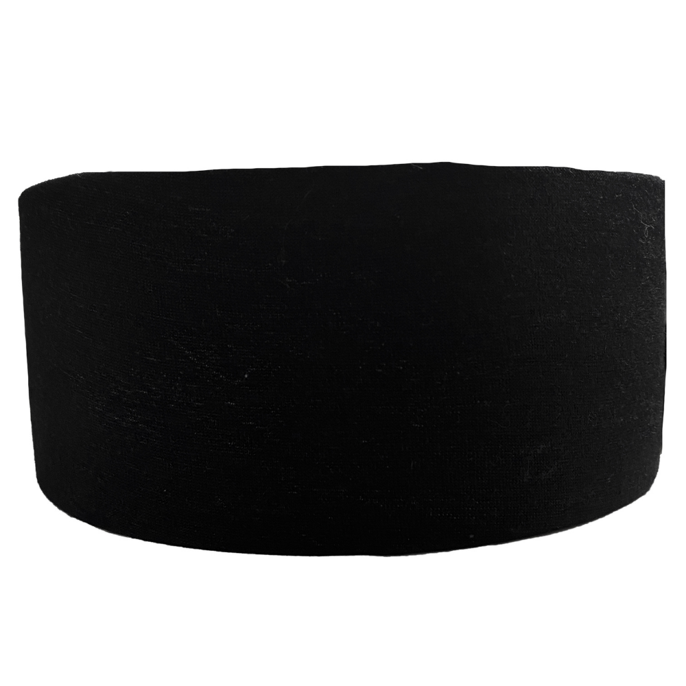 Solid Black Recycled Tube Turban