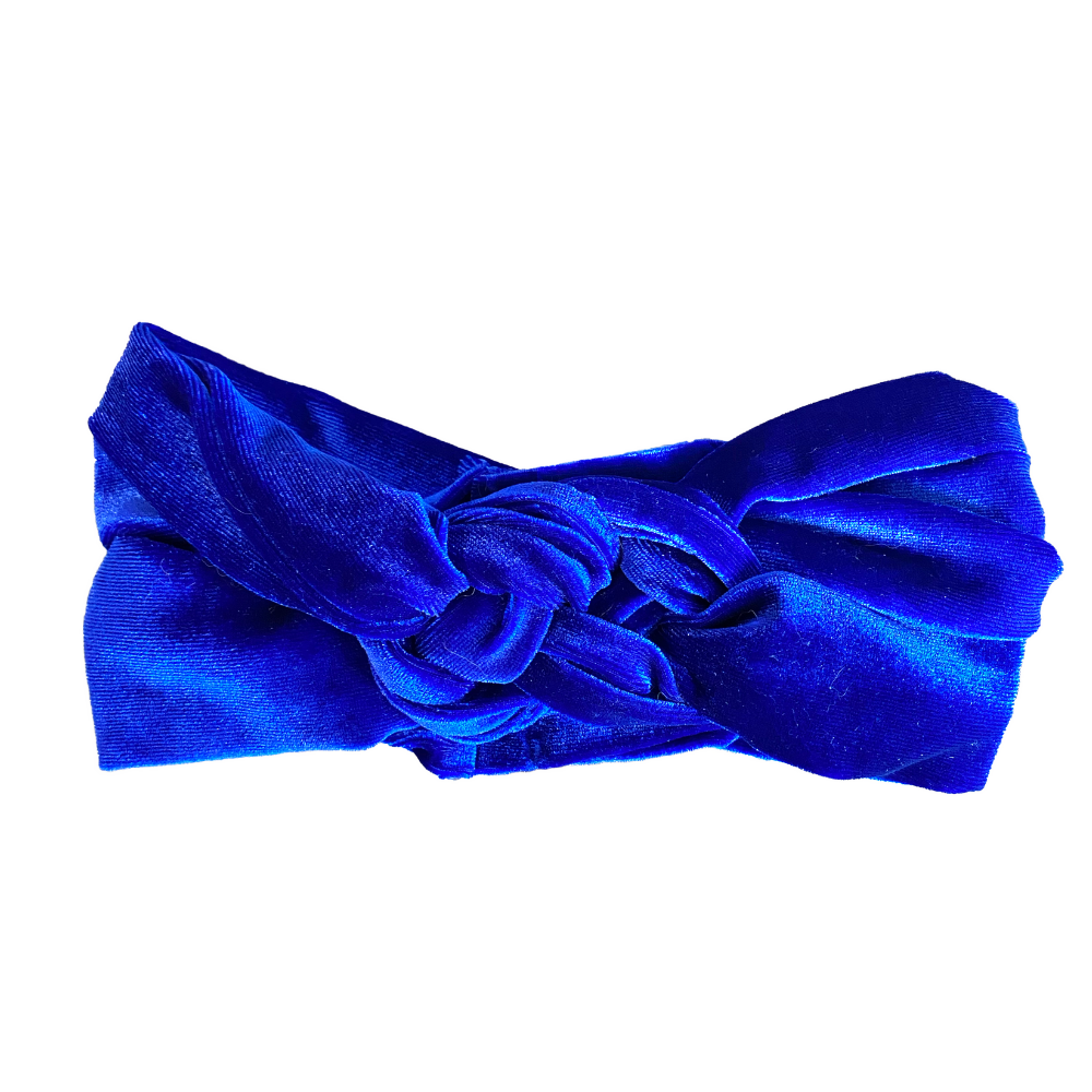 Royal Blue Velvet Infinity Turban