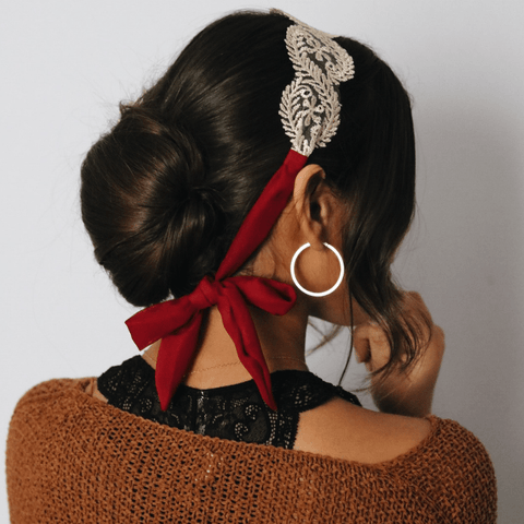 Cabernet Lace Tie - Headbands of Hope