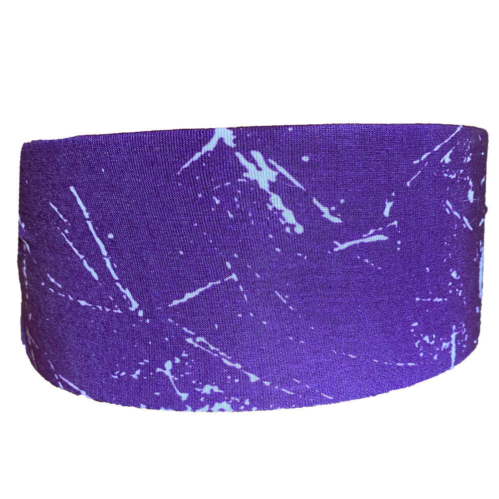 Purple Marble Tube Turban