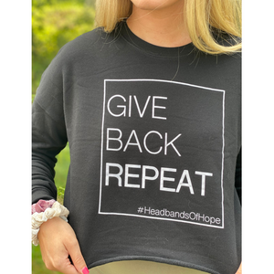 The Motto Cropped Sweatshirt