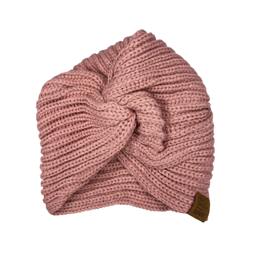 Twisted Turban Beanie in Pink