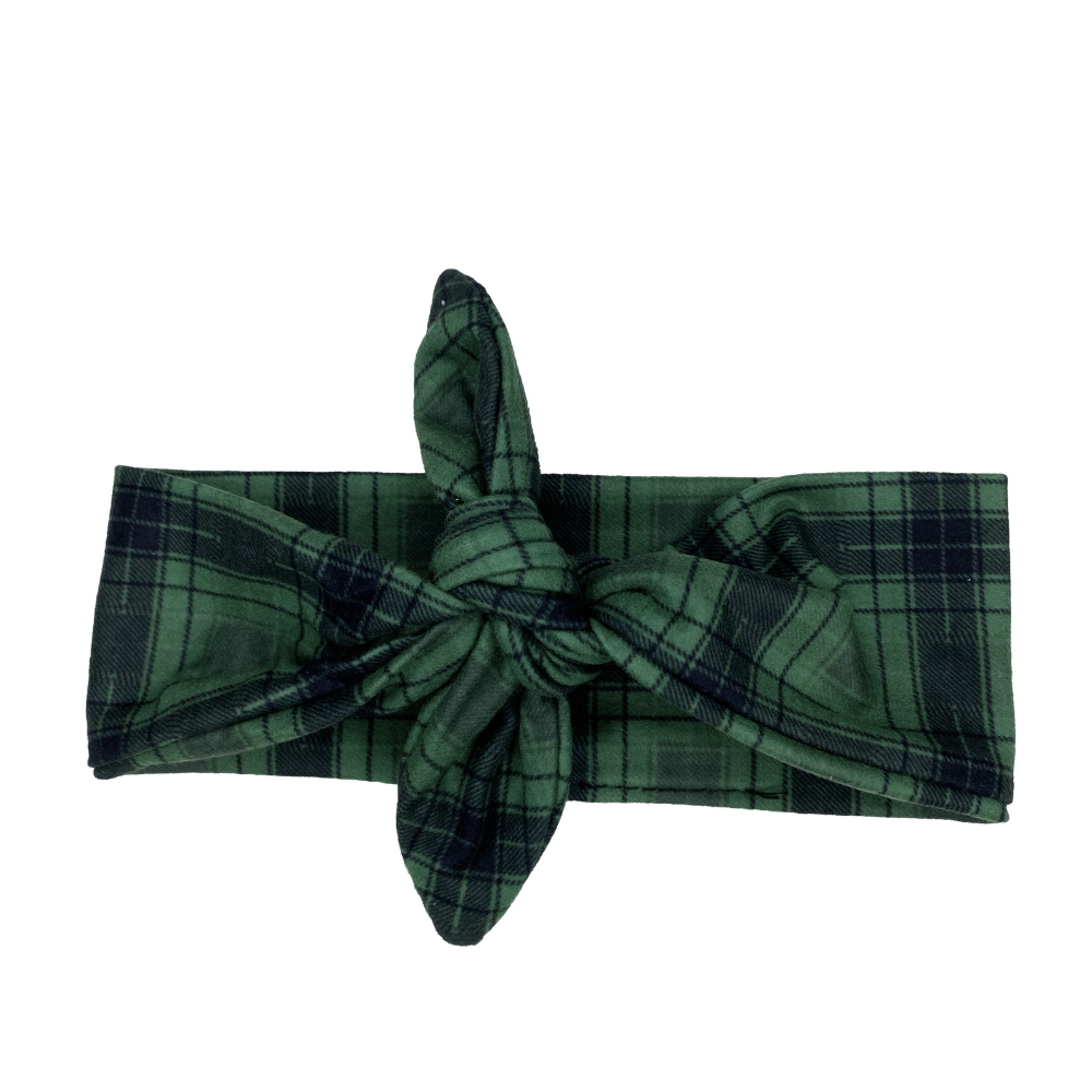 Green Plaid Knotted