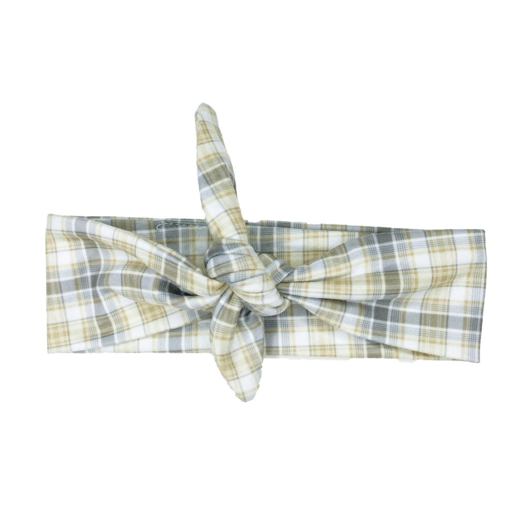 Tan Plaid Knotted
