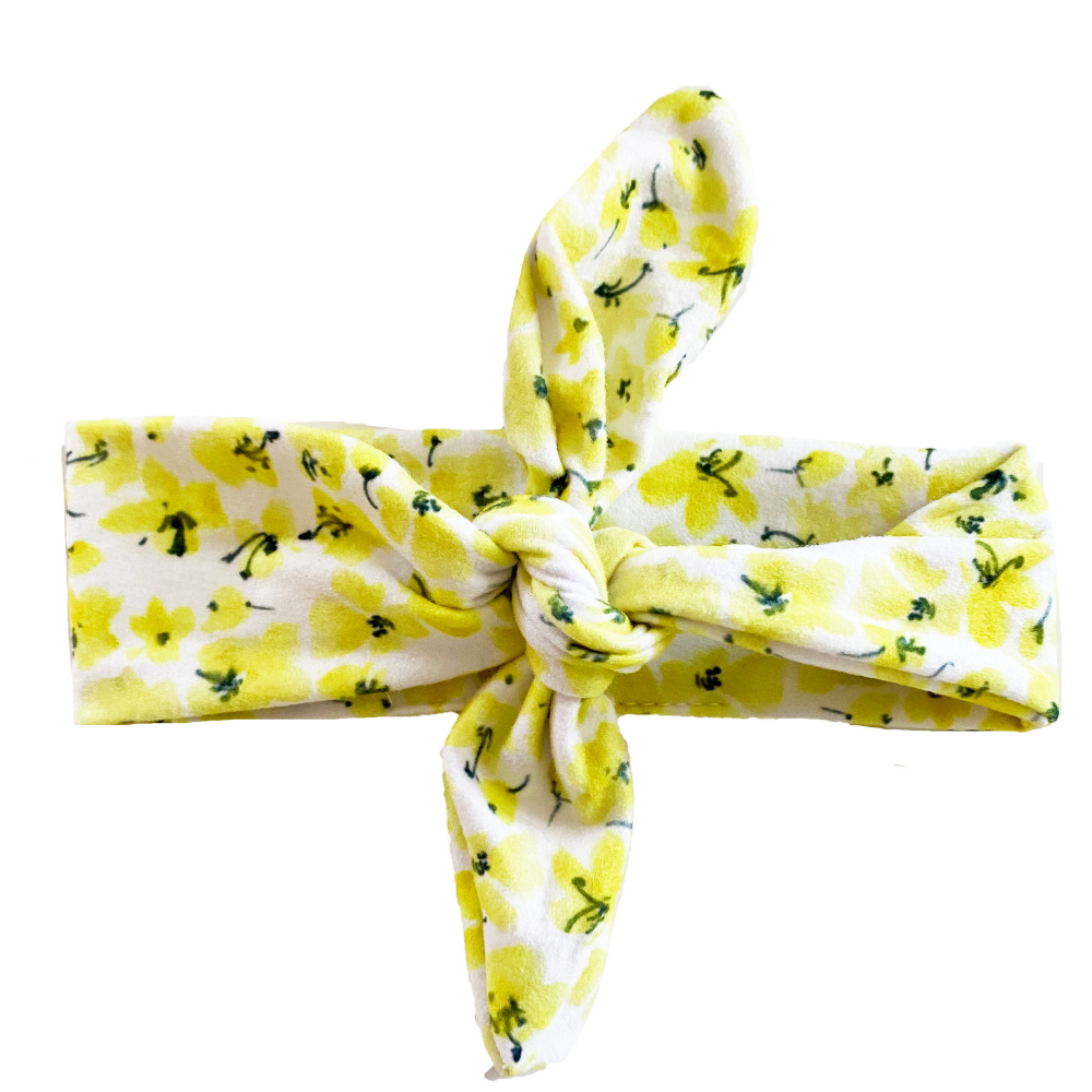 Yellow Floral Knotted