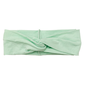 Solid Mint Button Headband
