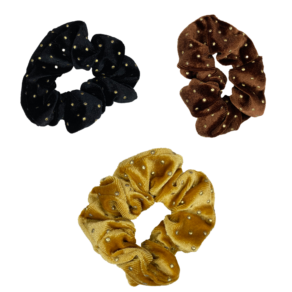 Starry Night Scrunchie Set of 3