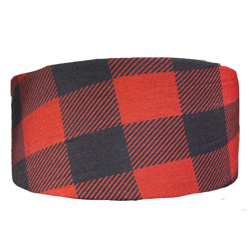Red Buffalo Plaid Recycled Tube Turban
