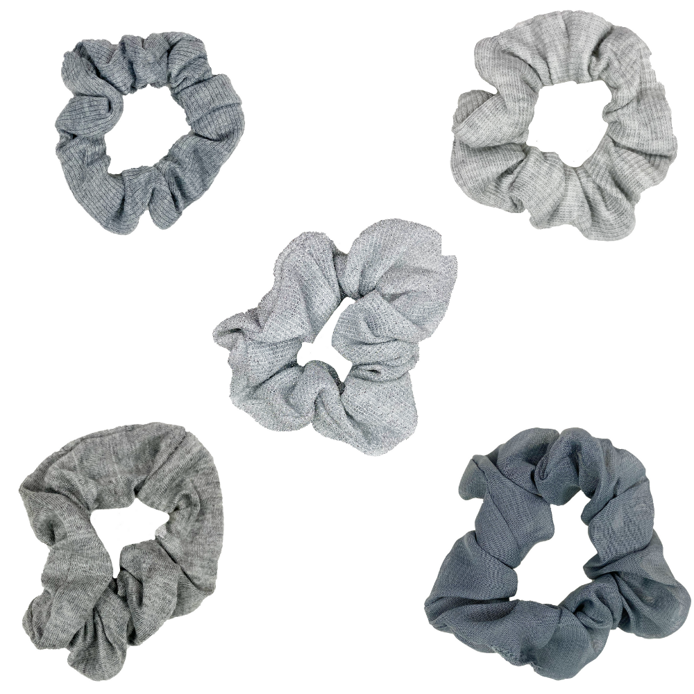 Shades of Grey Scrunchie Set